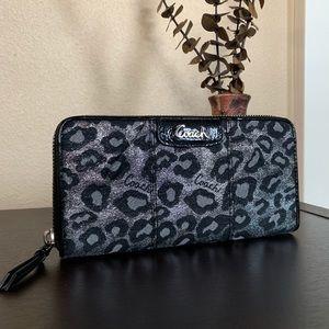 Coach wallet glittery cheetah print
